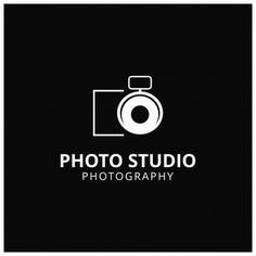 Dark logo for photographers Free Vector