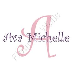 Personalized Vinyl Initial & Name Wall Decal  by FleurishWalls, $36.95