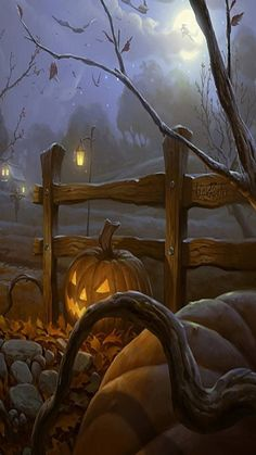 (notitle) - My Happy Halloween - Sport Fröhliches Halloween, Samhain Halloween, Halloween Artwork, Halloween Prints, Halloween Painting, Halloween Desserts, Halloween Pictures, Halloween Wallpaper, Halloween Cards