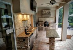 """Receive fantastic recommendations on """"outdoor kitchen designs floor plans"""". They… Receive fantastic recommendations on """"outdoor kitchen designs floor plans"""". They are actually available for you on our site. Modern Outdoor Kitchen, Outdoor Kitchen Countertops, Outdoor Kitchen Bars, Backyard Kitchen, Fire Pit Backyard, Kitchen Island, Outdoor Kitchens, Kitchen Grill, Barn Kitchen"""