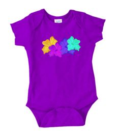 This colourful onesie was created from a collage of a digital drawing of mine.  Beautiful bright colours for your little fashionista!  Perfect gift for a baby shower, baptism, any occasion!