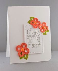 Handmade card by Lynn Mangan using Making a Statement and the Psalm 34:8 plain jane from Verve. #vervestamps