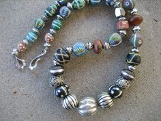 TRIBAL NECKLACE AFRICAN beads necklace Sundance by harrietlove12