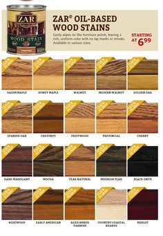 Zar 174 Wood Stain On Pinterest Wood Stain Wood Finishing
