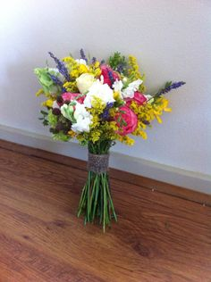 Bright quirky bridal bouquet