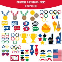 Instant Download Olympics 2014 Printable Photo Booth Prop Set — Amanda Keyt DIY Photo Booth Props & More!
