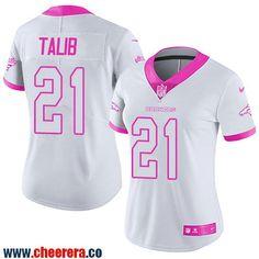 Women's Denver Broncos #21 Aqib Talib White Pink 2016 Color Rush Fashion NFL Nike Limited Jersey