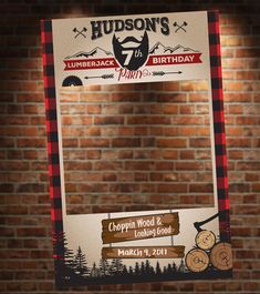 Lumberjack Theme Photo Booth. Lumberjack Party Prop. Lumberjack Birthday Party.