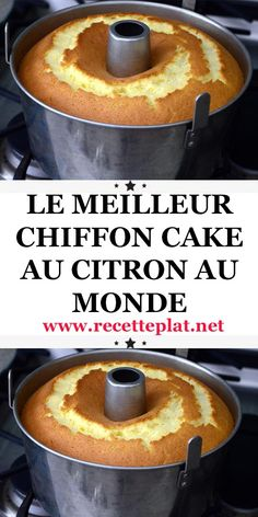 chiffon citron cake Chiffon cake citronYou can find Easy pumpkin dessert and more on our website Fun Cooking, Cooking Time, Cooking Recipes, Cooking Ideas, Chiffon Cake, Easy Cake Recipes, Pumpkin Recipes, Healthy Recipes, Charlotte Torte