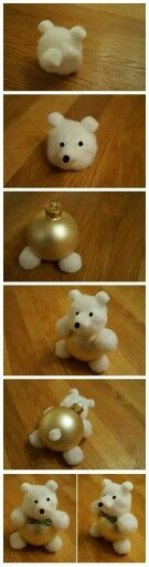 Bear made with a sphere