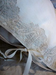 beautiful ribbon tied pillow case