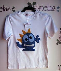 Vístelas. Camiseta Monstruo para niño