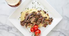 Beer-Braised Mushrooms with Herbed Polenta Recipe Primary Image