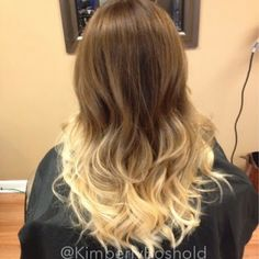 Not going to lie, I'm kind of obsessed with this balayage ombré I did a few days ago.  Summer, where the hell are you?! I need messed beach waves all day everyday. #hairbykimberlyblog