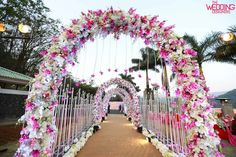 Magical Entrance Decor Ideas to Quirk up your Wedding Walkway Wedding Walkway, Wedding Entrance, Wedding Mandap, Entrance Decor, Tent Wedding, Garland Wedding, Wedding Receptions, Wedding Ceremony, Marriage Decoration