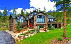 Mountain house by the lake