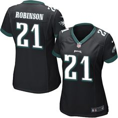Women's Nike Philadelphia Eagles #21 Patrick Robinson Game Black Alternate NFL Jersey