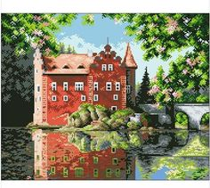 First Class Cross Stitch Kits Garden Water Flower Tree Best Choice Factory Direct Sell-in Textile & Fabric Crafts from Home & Garden on Aliexpress.com   Alibaba Group