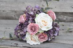 Soft, lavender and blush wedding  shipping worldwide from Holly's Flower Shoppe on Etsy.