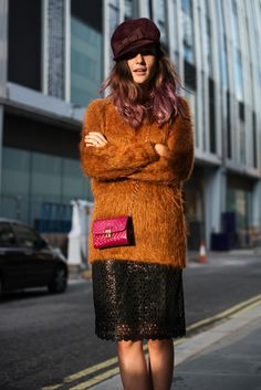 Love the warm colors! The Locals in London - London Fashion Week