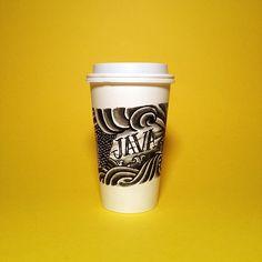 Coffee Sleeve-Tattoo by David Schwen.