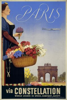 Travel to Paris France Travel Poster
