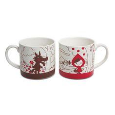 Red Riding Hood Mugs.