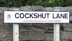 Britain sure has some strange place names Photos) Funny Street Signs, Funny Road Signs, Fun Signs, Name Signs, Funny Town Names, Funny Place Names, Odd Names, Crazy Names, Strange Places