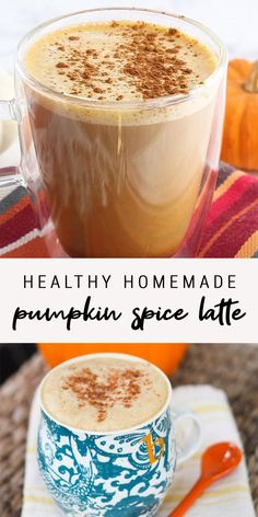 Yummy Drinks, Healthy Drinks, Healthy Snacks, Homemade Pumpkin Spice Latte, Pumpkin Chai Latte Recipe, Skinny Pumpkin Spice Latte, Homemade Coffee Creamer, Pumpkin Spice Syrup, Coffee Drink Recipes