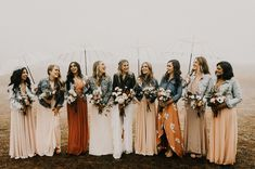 The Rain Was No Match for this Magically Moody Bohemian Wedding - Green Wedding Shoes Rain Wedding, Umbrella Wedding, Boho Wedding, Wedding Day, Fantasy Wedding, Wedding Weekend, Wedding Bells, Dream Wedding, Wedding Photography Checklist