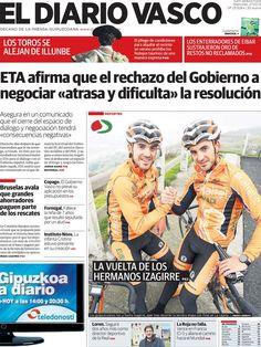 Los Titulares y Portadas de Noticias Destacadas Españolas del 27 de Marzo de 2013 del Diario Vasco ¿Que le parecio esta Portada de este Diario Español?
