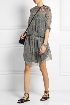 Étoile Isabel Marant|Danbury printed silk-chiffon dress|NET-A-PORTER.COM