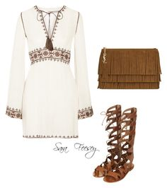 Untitled #52 by sara-elizabeth-feesey on Polyvore featuring polyvore, fashion, style, Talitha, Topshop and Yves Saint Laurent
