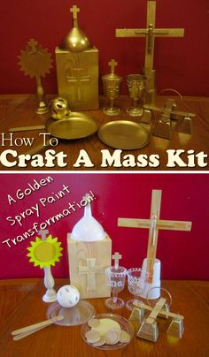 how to craft your own Mass kit for kids. Make as few or as many pieces as you want and save a ton of money!