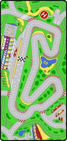 Race Track Play Carpet #rosenberryrooms, 3' x 6.5', $60