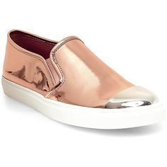 Steve Madden Women's Eleete Sneakers ($80) ❤ liked on Polyvore featuring shoes, sneakers and rose gold