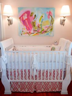 Project Nursery - Sophisticated Nursery with Colorful Abstract Painting - Project Nursery