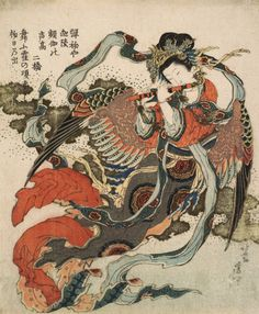 The Tengu goddess - Katsushika Hokusai