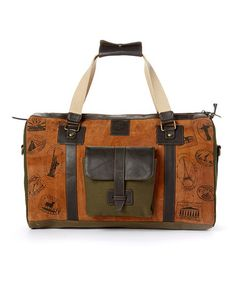 Look what I found on #zulily! Brown Leather Hardy Satchel #zulilyfinds