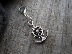 Silver Captains Anchor Charm  Midori Charm  by PohakantenJournals