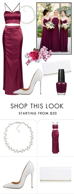 """Bordeaux"" by xjeera ❤ liked on Polyvore featuring Carolee, NLY Eve, Boohoo, Winter, red, wedding and bordeux"