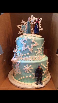Sloane's 4th birthday cake!  Frozen!!