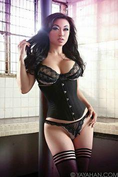 Erotic corset model asian