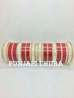 Wedding chura Wedding Chura, Wedding Jewelry, Bridal Chuda, Bridal Bangles, Wedding Rituals, Makeup Swatches, Bangle Set, Desi, Gifts