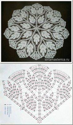 Crochet Doily Rug, Free Crochet Doily Patterns, Crochet Doily Diagram, Crochet Circles, Crochet Tablecloth, Crochet Chart, Thread Crochet, Crochet Designs, Crochet Coaster