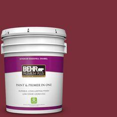 BEHR Premium Plus 5 gal. #hdc-CL-11 January Garnet Zero VOC Eggshell Enamel Interior Paint