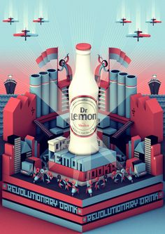 Dr Lemon Vodka & Tequila by Plenty , via Behance