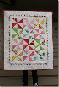 pinwheel quilt with picot edges full size! LOVE IT!!