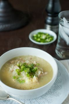 Filipino chicken and rice soup