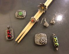 Handmade silver jewelry created by me using Precious Metal Clay